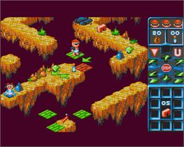 In game image of Brat on the Commodore Amiga.