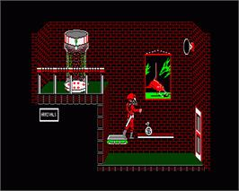 In game image of Brataccas on the Commodore Amiga.