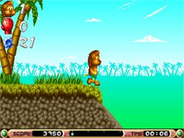 In game image of Brian the Lion on the Commodore Amiga.