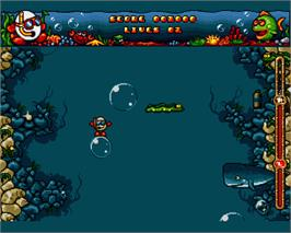 In game image of Bubble Dizzy on the Commodore Amiga.