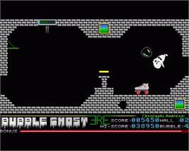 In game image of Bubble Ghost on the Commodore Amiga.
