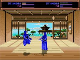 In game image of Budokan: The Martial Spirit on the Commodore Amiga.