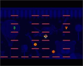 In game image of Bumpy's Arcade Fantasy on the Commodore Amiga.