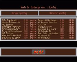 In game image of Bundesliga Manager on the Commodore Amiga.