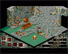 In game image of Cadaver: The Payoff on the Commodore Amiga.