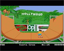 In game image of California Games on the Commodore Amiga.