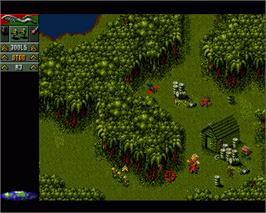 In game image of Cannon Fodder on the Commodore Amiga.