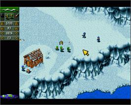In game image of Cannon Fodder 2 on the Commodore Amiga.
