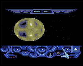 In game image of Captain Blood on the Commodore Amiga.