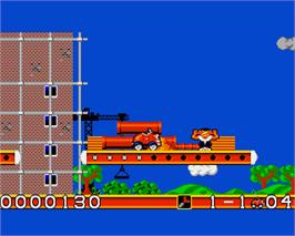In game image of Car-Vup on the Commodore Amiga.