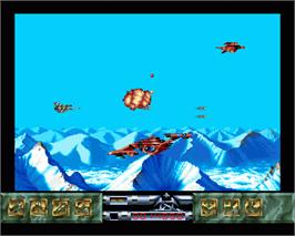 In game image of Carcharodon: White Sharks on the Commodore Amiga.