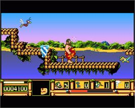 In game image of Carlos on the Commodore Amiga.
