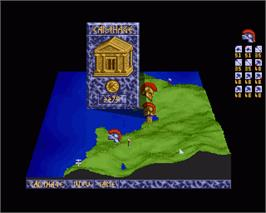 In game image of Carthage on the Commodore Amiga.