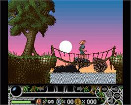 In game image of Cedric and the Lost Sceptre on the Commodore Amiga.