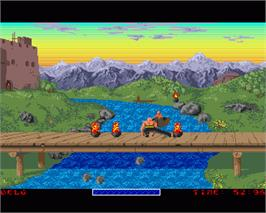 In game image of Chambers of Shaolin on the Commodore Amiga.