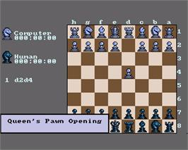 In game image of Checkmate on the Commodore Amiga.