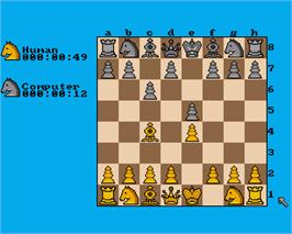 In game image of Chess Player 2150 on the Commodore Amiga.