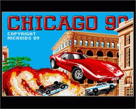In game image of Chicago 90 on the Commodore Amiga.