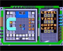 In game image of Chip's Challenge on the Commodore Amiga.