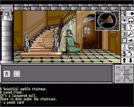 In game image of Chrono Quest on the Commodore Amiga.