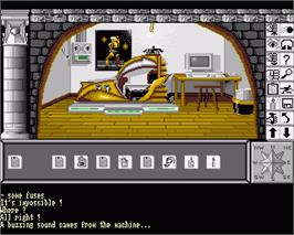 In game image of Chrono Quest 2 on the Commodore Amiga.