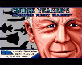 In game image of Chuck Yeager's Advanced Flight Trainer 2.0 on the Commodore Amiga.