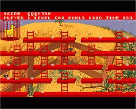 In game image of Chuckie Egg 2 on the Commodore Amiga.