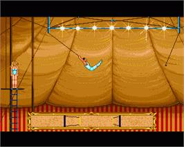 In game image of Circus Games on the Commodore Amiga.