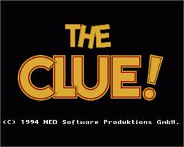 In game image of Clue on the Commodore Amiga.