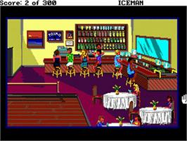 In game image of Codename: ICEMAN on the Commodore Amiga.