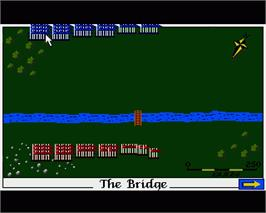 In game image of Cohort: Fighting For Rome on the Commodore Amiga.