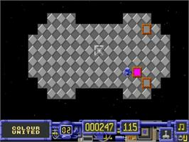 In game image of Color Buster on the Commodore Amiga.