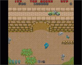 In game image of Commando on the Commodore Amiga.