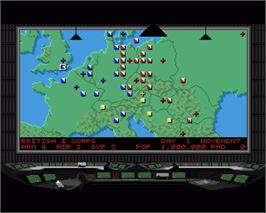 In game image of Conflict: Europe on the Commodore Amiga.