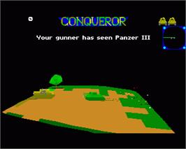 In game image of Conqueror on the Commodore Amiga.