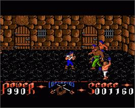 In game image of Corsarios on the Commodore Amiga.
