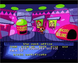 In game image of Cosmic Spacehead on the Commodore Amiga.