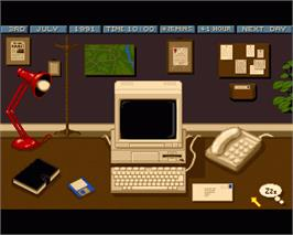 In game image of Crime City on the Commodore Amiga.