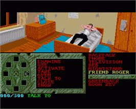 In game image of Crime Time on the Commodore Amiga.