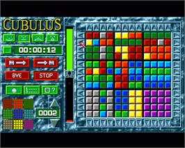 In game image of Cubulus on the Commodore Amiga.