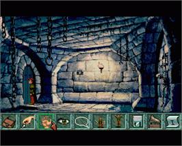 In game image of Curse of Enchantia on the Commodore Amiga.
