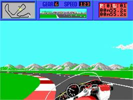 In game image of Cycles: International Grand Prix Racing on the Commodore Amiga.