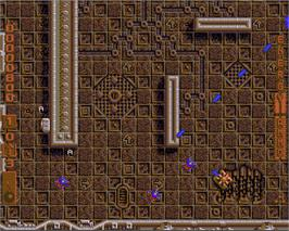 In game image of Cytron on the Commodore Amiga.