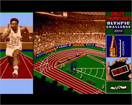 In game image of Daley Thompson's Olympic Challenge on the Commodore Amiga.