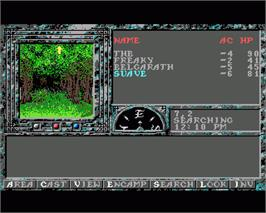 In game image of Dark Queen of Krynn on the Commodore Amiga.