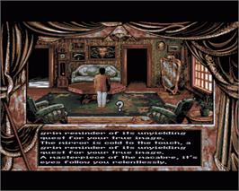 In game image of Dark Seed on the Commodore Amiga.