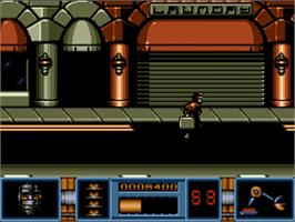 In game image of Darkman on the Commodore Amiga.