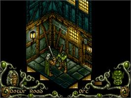 In game image of Darkmere: The Nightmare's Begun on the Commodore Amiga.