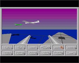 In game image of Das Boot: German U-Boat Simulation on the Commodore Amiga.