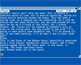 In game image of Deadline on the Commodore Amiga.